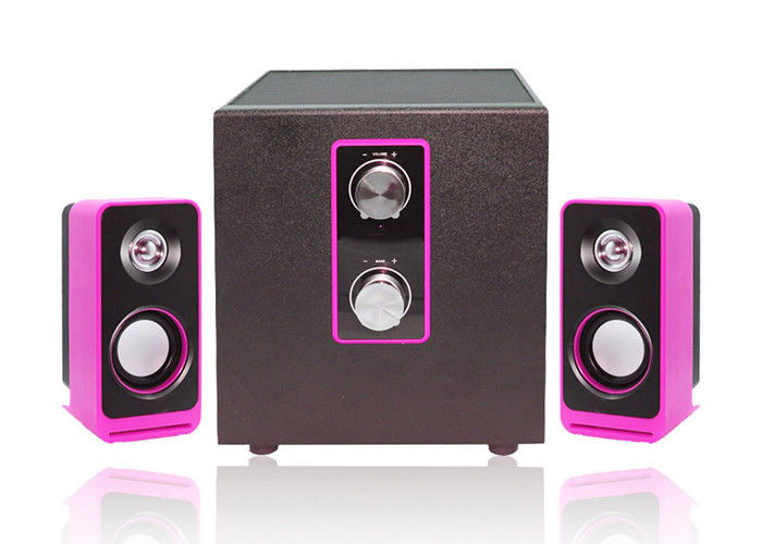 Wired Type Pc Multimedia Speakers , 2.1 Laptop Speakers Light Weight